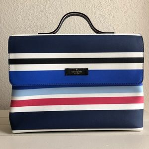 Kate Spade Makeup/Travel White/Red/Blue Stripe